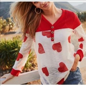 Hearts Knitted Tunic Top!